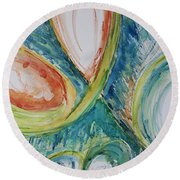 Abstract Chaos Round Beach Towel