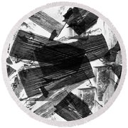 Abstract Chunky Round Beach Towel