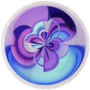 Abstract Circle Squared Round Beach Towel