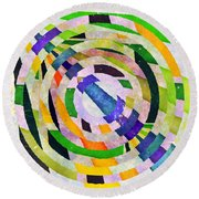 Abstract Circles Round Beach Towel