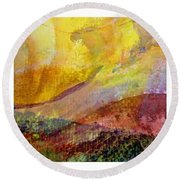 Abstract Collage No. 1 Round Beach Towel by Michelle Calkins