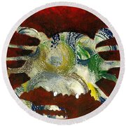 Abstract Crab Round Beach Towel