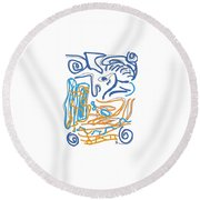 Abstract Digital Round Beach Towel