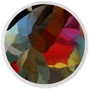 Round Beach Towel featuring the digital art Abstract Distraction by David Lane