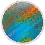 Abstract Dreams Come True Round Beach Towel