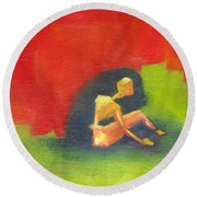 Abstract Expressionist IIi Round Beach Towel