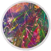 Abstract Fairy Night Lights Round Beach Towel