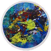 Abstract Fish  Round Beach Towel