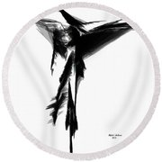 Abstract Flamenco Round Beach Towel by Rafael Salazar