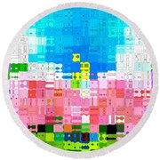 Round Beach Towel featuring the photograph Abstract Flower Garden by Anita Lewis