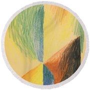 Abstract Forms Xiv Round Beach Towel