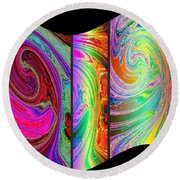 Abstract Fusion 184 Round Beach Towel