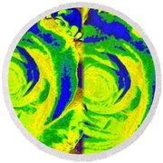 Abstract Fusion 195 Round Beach Towel