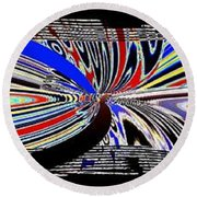 Abstract Fusion 197 Round Beach Towel