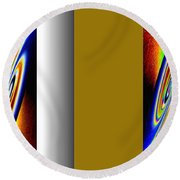 Round Beach Towel featuring the digital art Abstract Fusion 211 by Will Borden