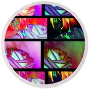 Abstract Fusion 214 Round Beach Towel