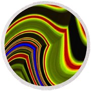 Abstract Fusion 234 Round Beach Towel