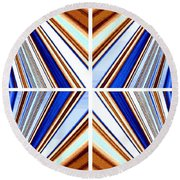 Round Beach Towel featuring the digital art Abstract Fusion 236 by Will Borden