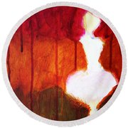 Abstract Ghost Figure No. 2 Round Beach Towel