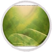 Round Beach Towel featuring the photograph Abstract Globe by Susan Leggett