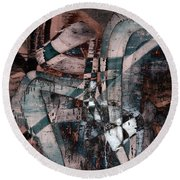 Abstract Graffiti 1 Round Beach Towel
