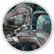 Abstract Graffiti 9 Round Beach Towel
