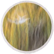 Abstract Haze Round Beach Towel