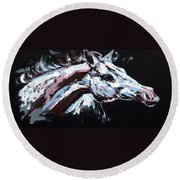 Abstract Horse Round Beach Towel