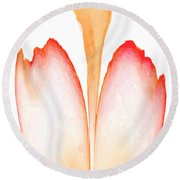 Abstract In Bloom 2 Round Beach Towel