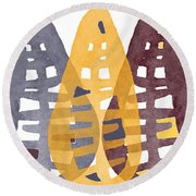 Abstract Indian Corn Round Beach Towel