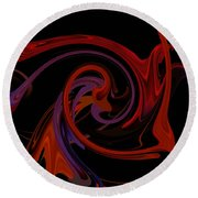 Abstract - Just Dandy Round Beach Towel by rd Erickson