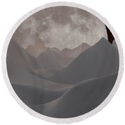 Abstract Landscape #3 Round Beach Towel by Wally Hampton