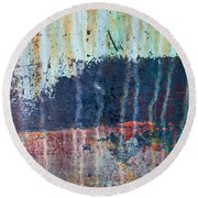 Round Beach Towel featuring the photograph Abstract Landscape by Jani Freimann