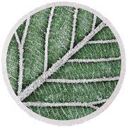 Abstract Leaf Art Round Beach Towel