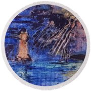 Abstract Lighthouse Round Beach Towel