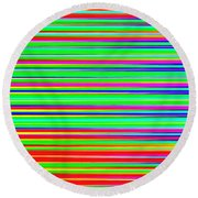 Abstract Lines 3 Round Beach Towel