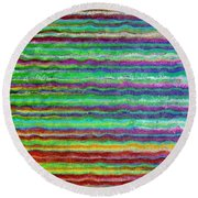 Abstract Lines 5 Round Beach Towel