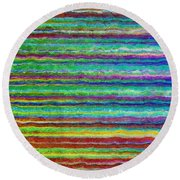 Abstract Lines 8 Round Beach Towel
