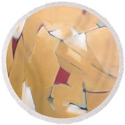 Abstract Lines Round Beach Towel