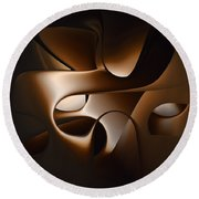Chocolate - 005 Round Beach Towel by rd Erickson