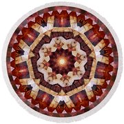 Mandala 3 - 076 Round Beach Towel by rd Erickson