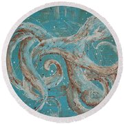 Abstract Octopus Round Beach Towel
