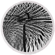 Abstract Of A Dancer Round Beach Towel by Venetia Featherstone-Witty