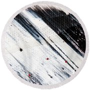 Abstract Original Artwork One Hundred Phoenixes Untitled Number Eight Round Beach Towel
