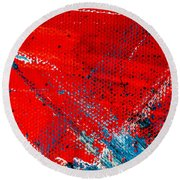 Abstract Original Artwork One Hundred Phoenixes Untitled Number Five Round Beach Towel