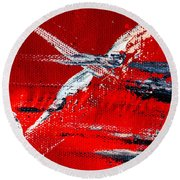 Abstract Original Artwork One Hundred Phoenixes Untitled Number Seven Round Beach Towel