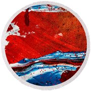 Abstract Original Artwork One Hundred Phoenixes Untitled Number Three Round Beach Towel