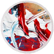 Abstract Original Artwork One Hundred Phoenixes Untitled Number Two Round Beach Towel