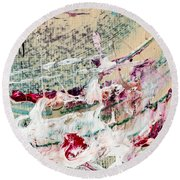 Abstract Original Painting Number Eight Round Beach Towel