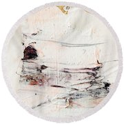 Abstract Original Painting Number Eleven Round Beach Towel